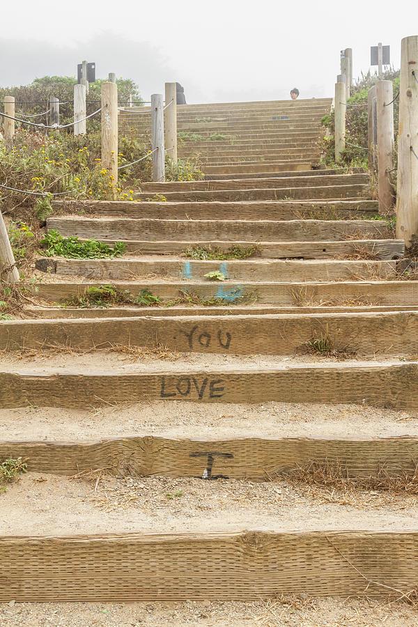 I Love You Steps San Francisco by Bonnie Follett