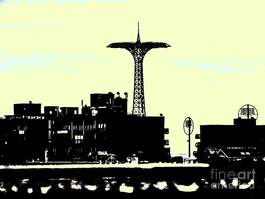 Building Digital Art - I Love You to Coney Island and Back by Gina Matarazzo