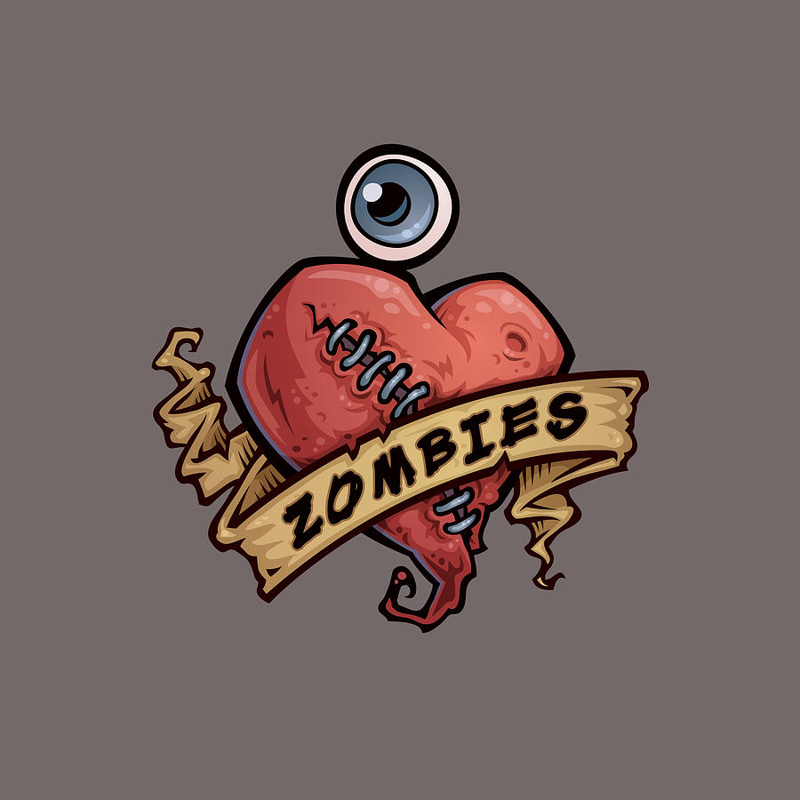 I Love Zombies Digital Art