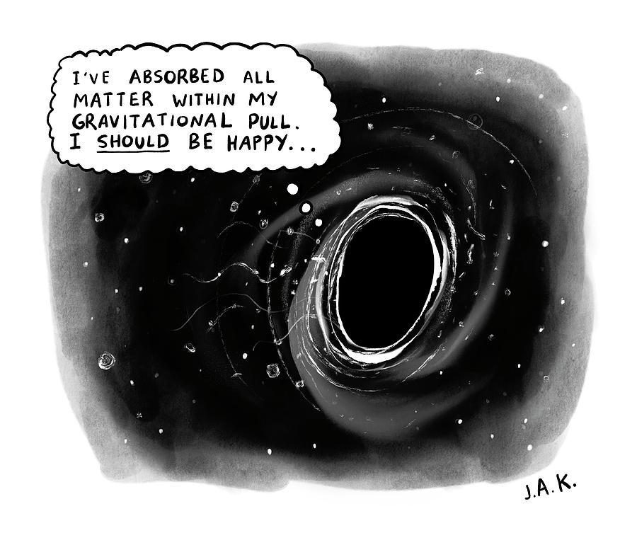 I Should Be Happy Drawing by Jason Adam Katzenstein