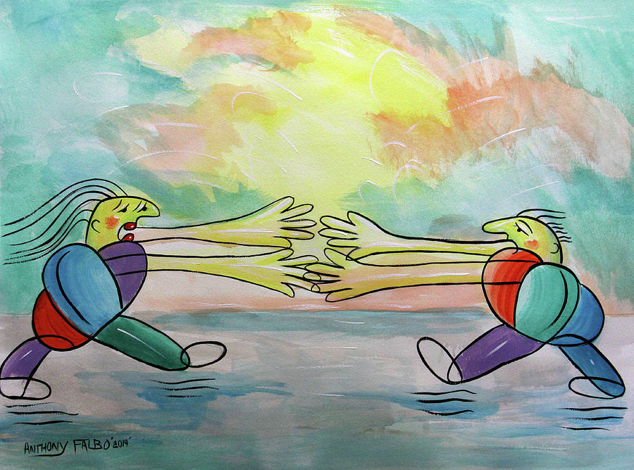 Whimsical Painting - Love, I Wanta Run To You by Anthony Falbo