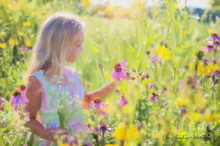 Sunshine Painting - I Would Pick More Daisies ... by Chris Armytage