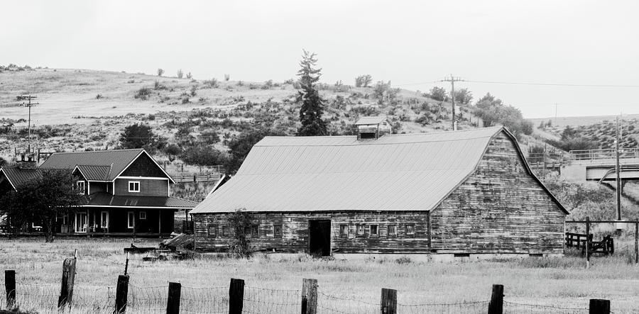 I90 Barn BW by Cathy Anderson