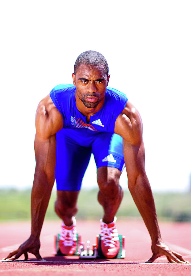 Iaaf Day In The Life With Tyson Gay Photograph by Al Bello