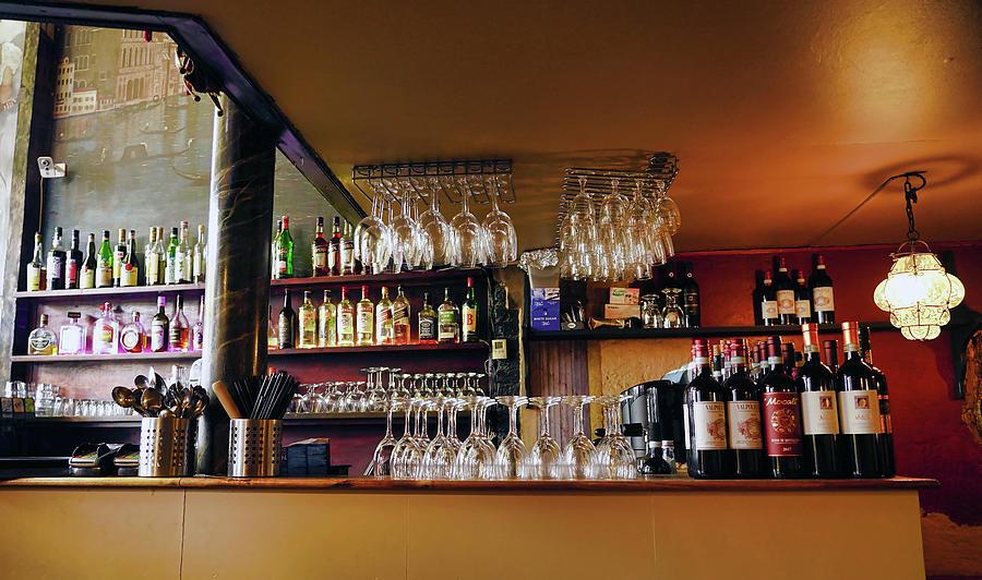 Interior View Of A Restaurant In Copenhagen Denmark by Richard Rosenshein