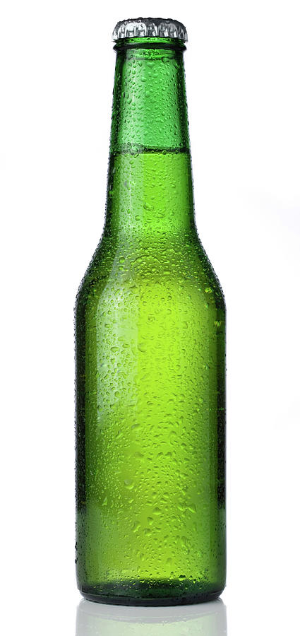 Ice Cold Bottle Of Beer Isolated On A Photograph by Lleerogers