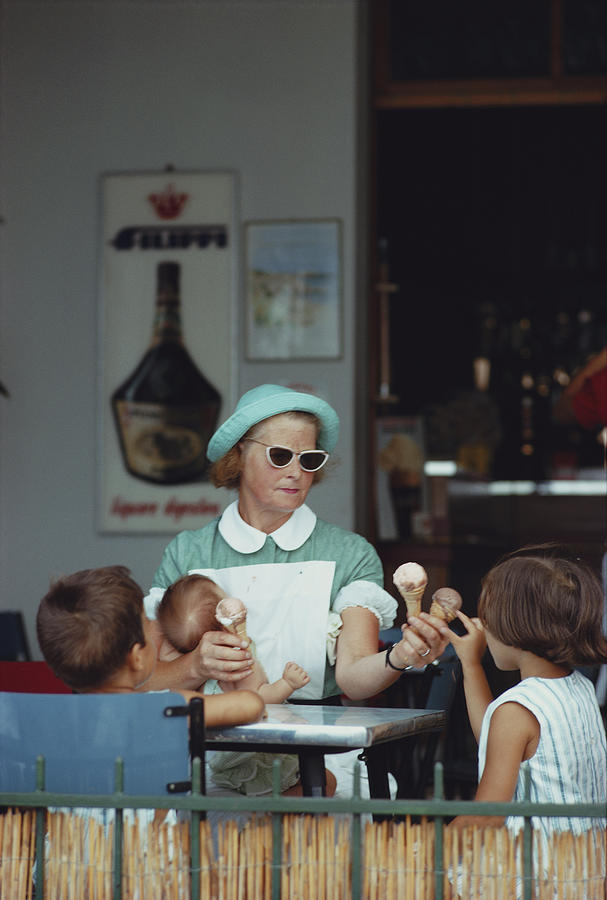 Ice Cream Time Photograph by Slim Aarons