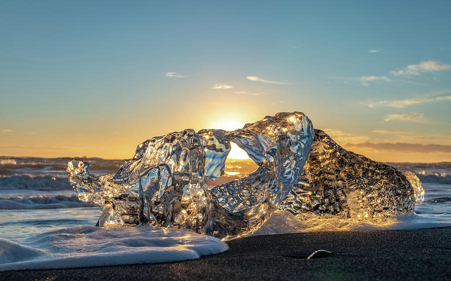 Iceland Photograph - Ice Crystal in the Sun by Framing Places