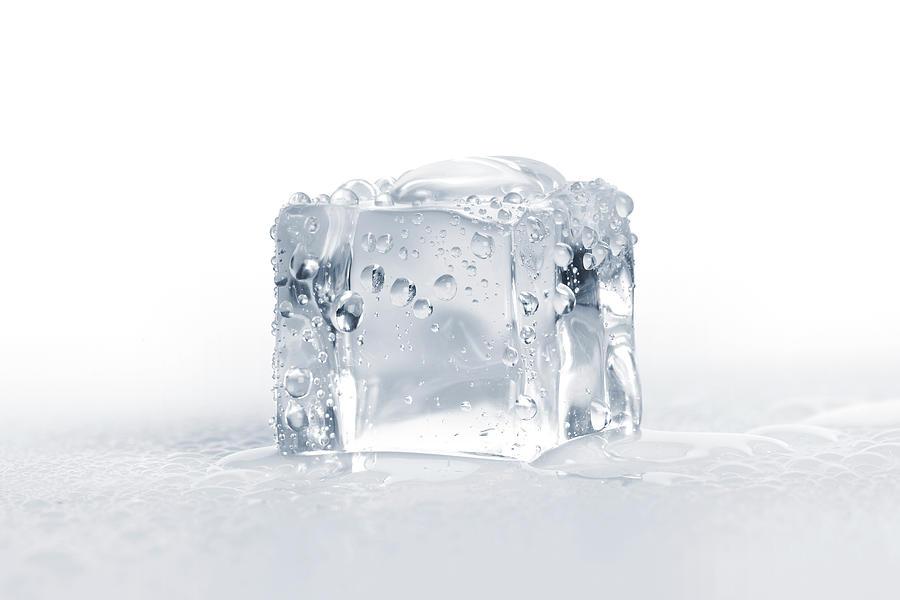 Ice Cubes Photograph by Sbayram