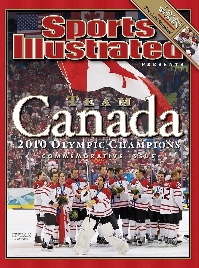Ice Hockey, 2010 Winter Olympics Sports Illustrated Cover Photograph by Sports Illustrated
