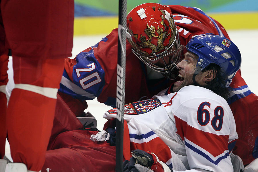 Ice Hockey - Day 10 - Russia V Czech Photograph by Bruce Bennett