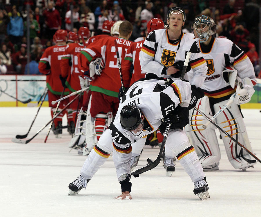 Ice Hockey - Day 9 - Germany V Belarus Photograph by Bruce Bennett