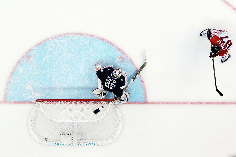 Ice Hockey - Mens Gold Medal Game - Day Photograph by Bruce Bennett