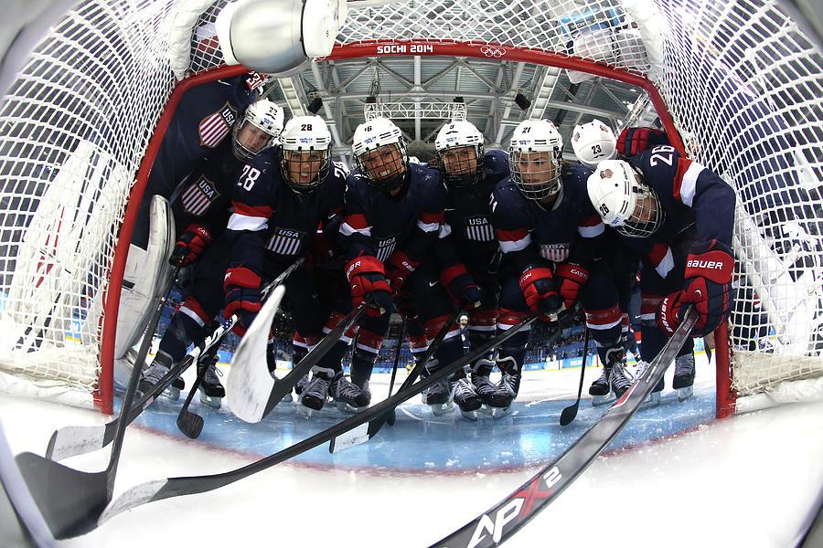 Ice Hockey - Winter Olympics Day 10 - Photograph by Bruce Bennett