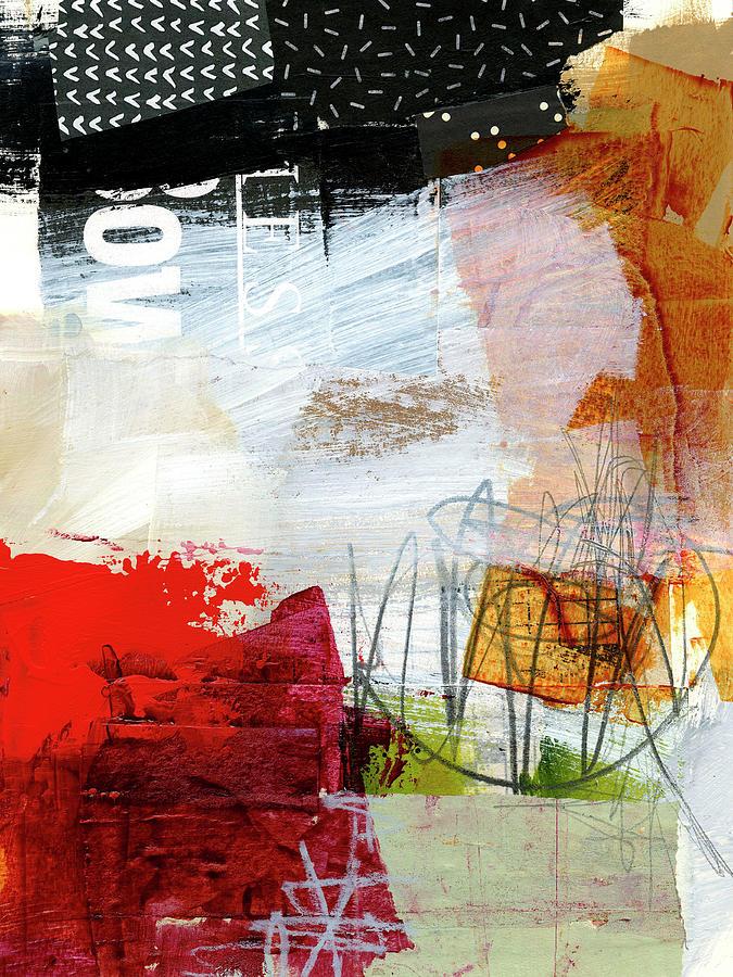 Pattern Painting - Ice Melt #6 by Jane Davies