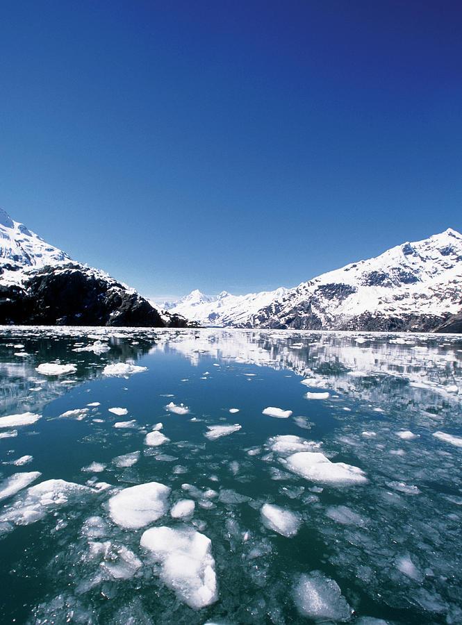 Glacier Bay Photograph - Ice Melting On John Hopkins Glacier by Medioimages/photodisc