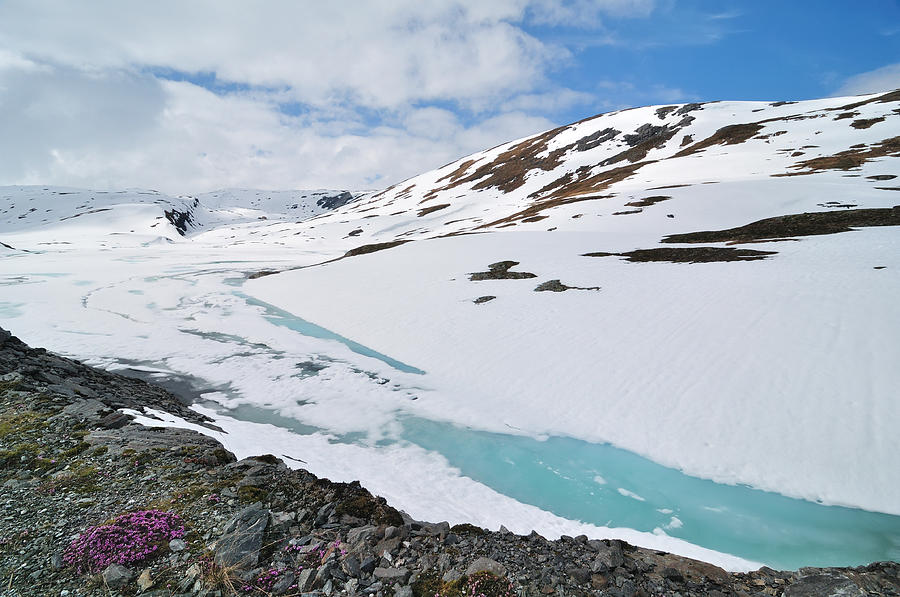Ice Melting On Snow Glacier Mountain Photograph by R9 ronaldo