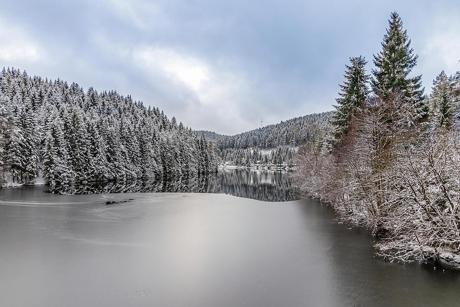 Ice On Okertal Dam Harz Photograph