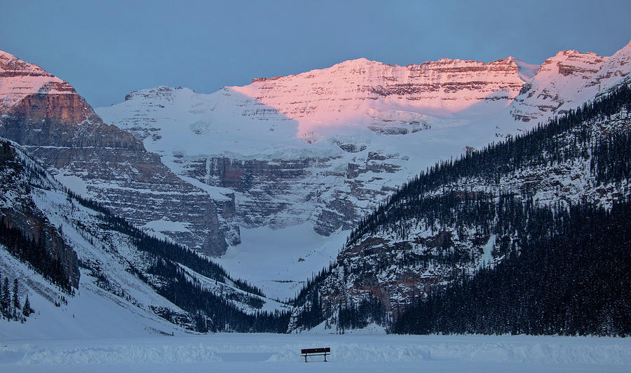 Ice Photograph - Ice Rink Lake Louise by Mark Duffy