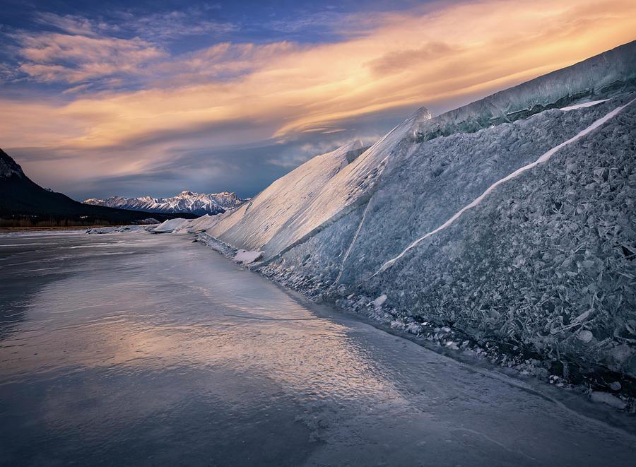 Ice Sheets on Abraham Lake by Dan Jurak