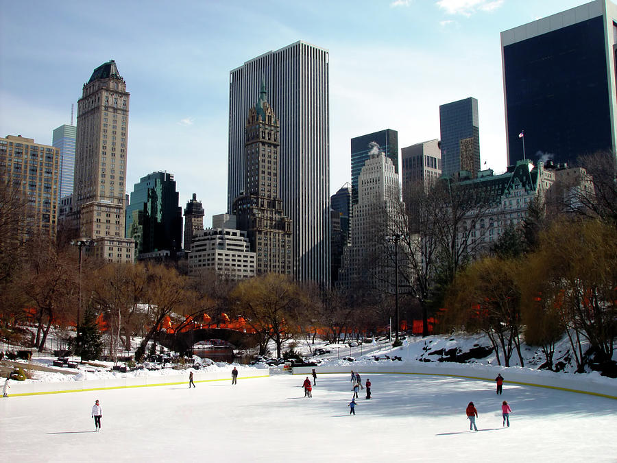 Ice Skaters At Central Park Photograph by Tbabasade