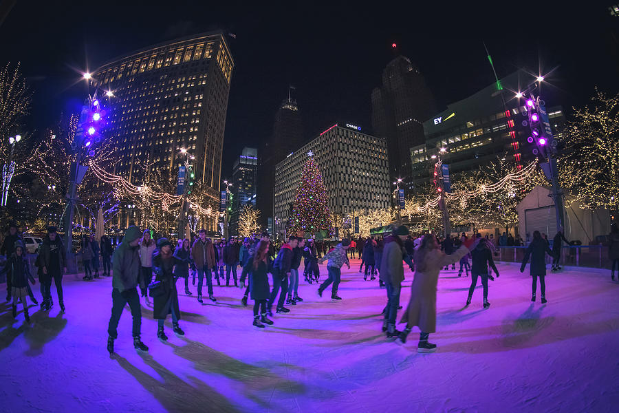 Ice Skating at Campus Martius by Jay Smith