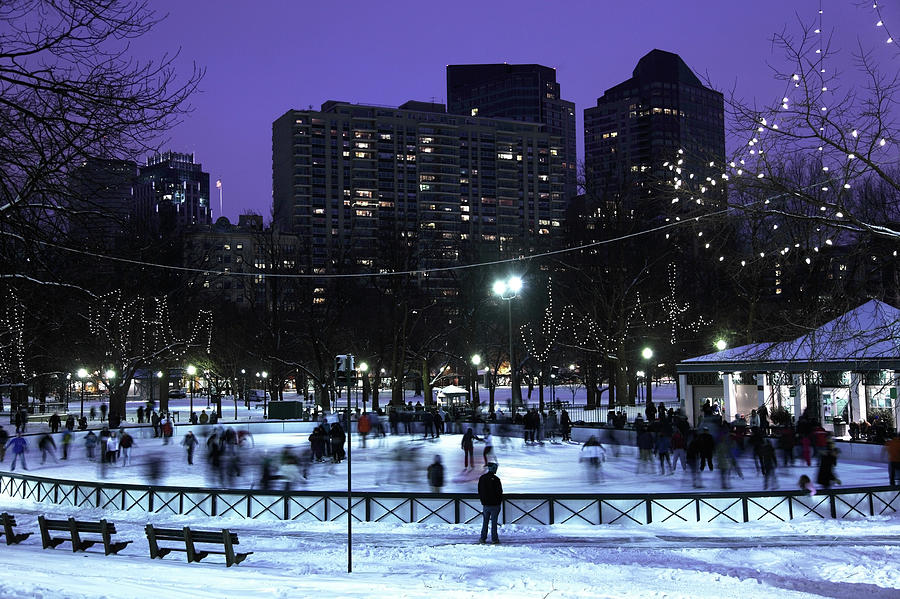 Ice Skating On Frog Pond Photograph by Denistangneyjr