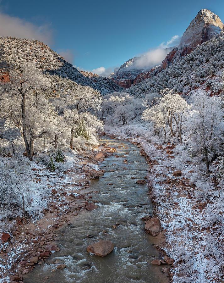 Ice Storm - Virgin River Photograph