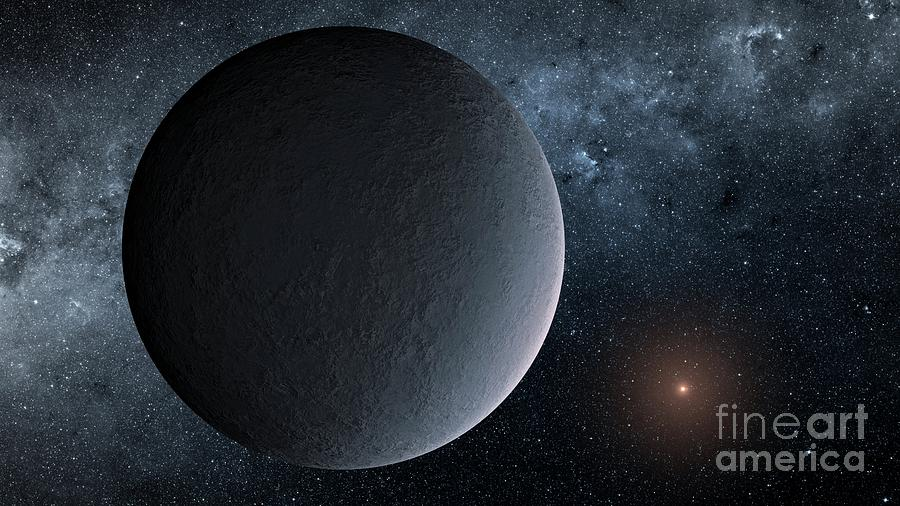 Planet Photograph - Iceball Exoplanet Ogle-2016-blg-1195lb by Nasa/jpl-caltech/science Photo Library