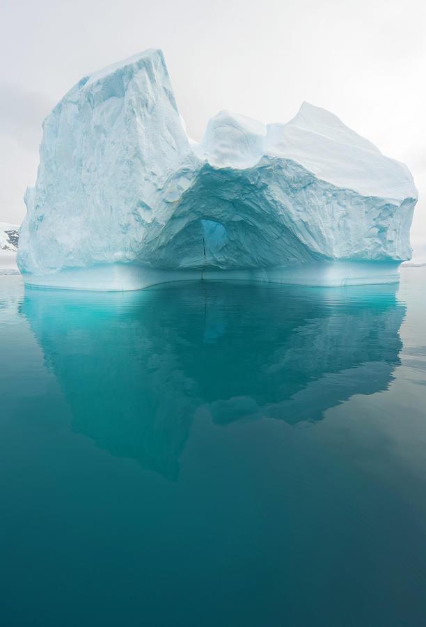 Iceberg And Reflections, Antarctic Photograph by Eastcott Momatiuk