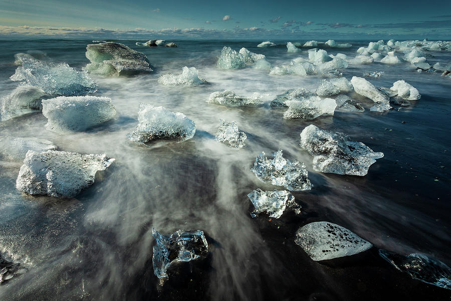 Iceland Photograph - Iceberg Beach by Peter OReilly