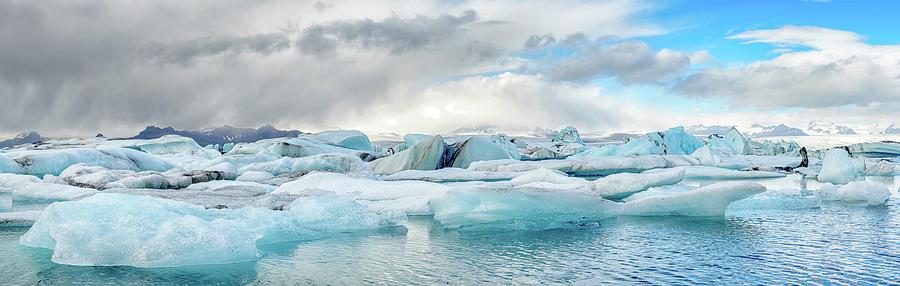 Iceberg Glacier Lagoon In Iceland Photograph by Sjo