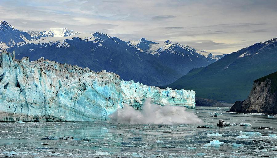 Iceberg Splash Hubbard Glacier by Marilyn MacCrakin