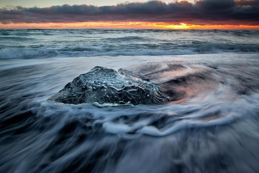 Iceberg Sunrise Photograph by Antonyspencer