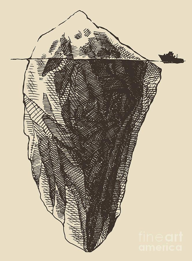 Symbol Digital Art - Iceberg With Icebreaker Vintage by Grop
