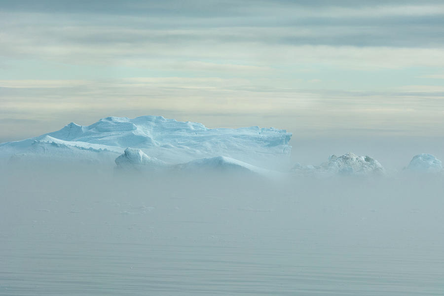 Icebergs At Baffin Bay Near Greenland Photograph by Mint Images - David Schultz