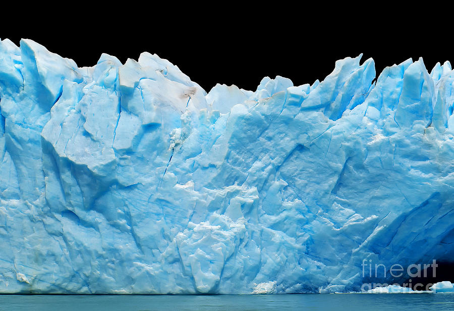 Arctic Photograph - Icebergs Isolated On Black by Canadastock