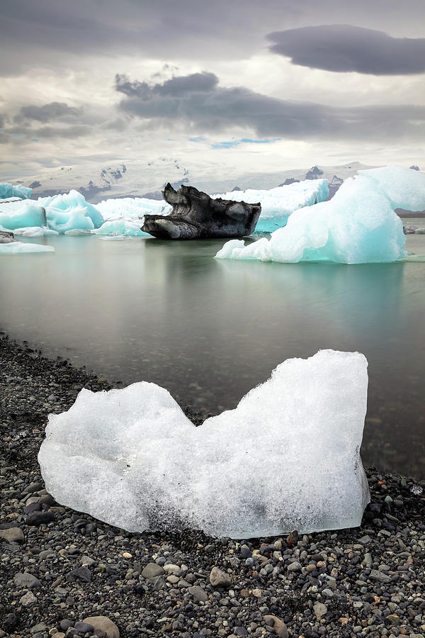 Icebergs on the beach of Jokulsarlon by Pierre Leclerc Photography