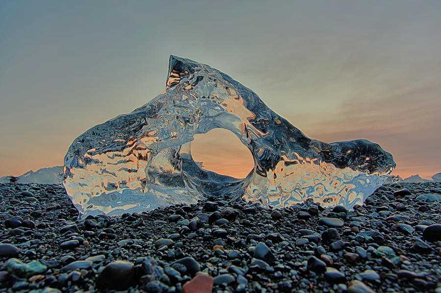 Iceland Diamond Beach Abstract  Ice by Nathan Bush