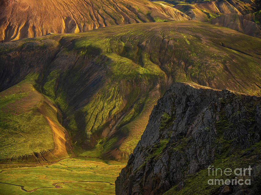 Iceland Highlands Along The Sudurnamur Ridge Photograph