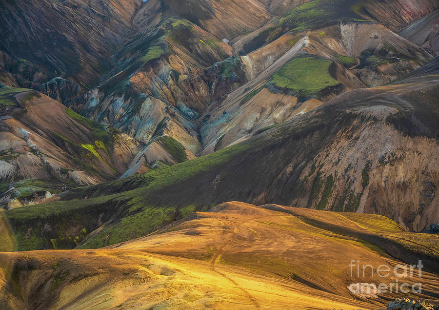 Iceland Highlands Landmannalaugar Along The Sudurnamur Trail Photograph