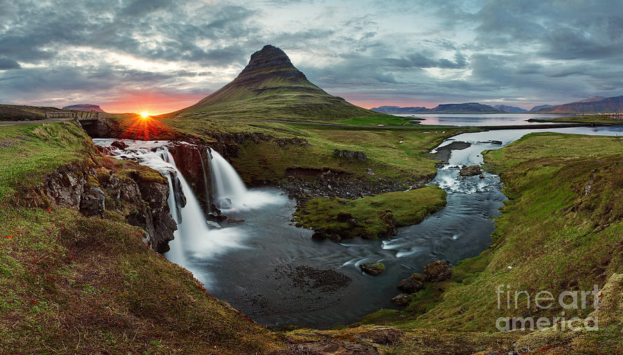 Country Photograph - Iceland Landscape Spring Panorama At by Ttstudio