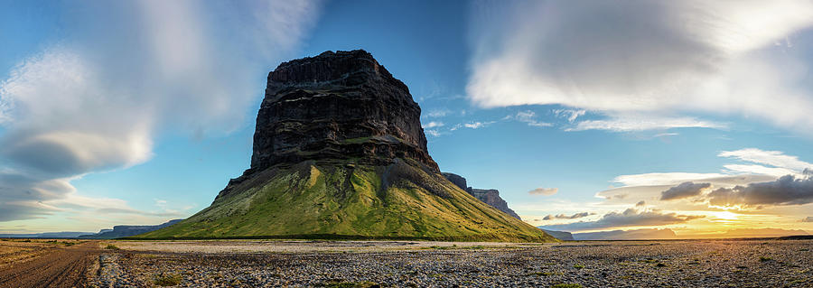 Iceland Lomagnupur Mountain Panoramic Landscape  by Pierre Leclerc Photography