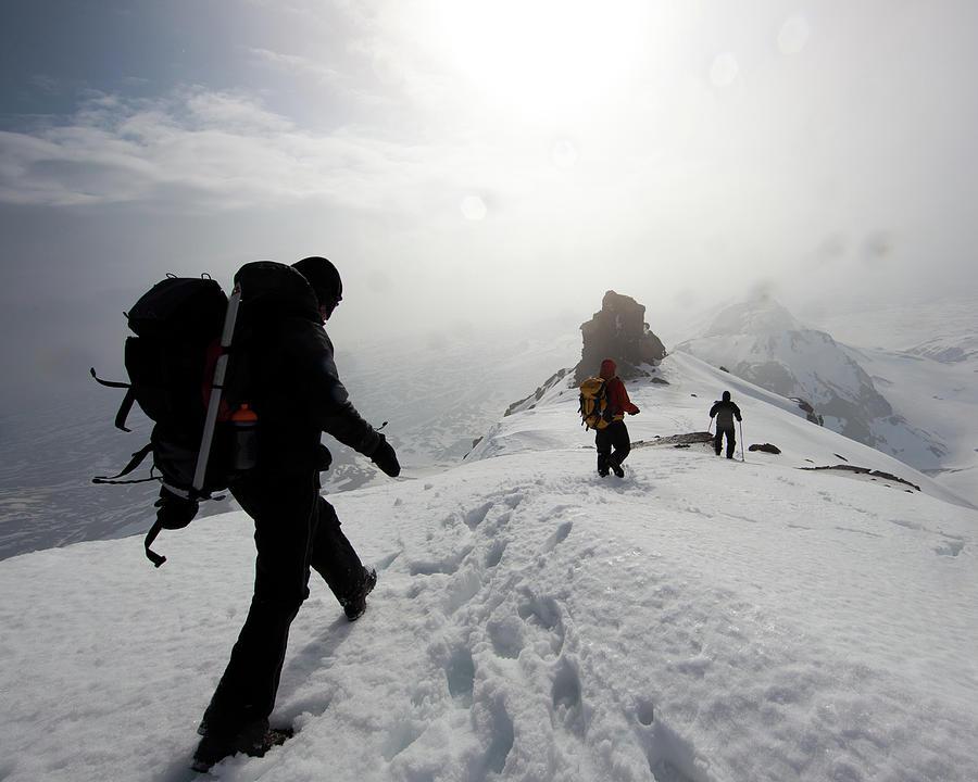 Iceland Mountain Hiking Photograph by Johann S. Karlsson