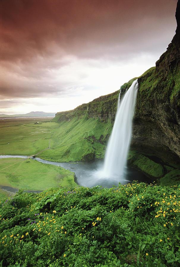Iceland, Seljalandsfoss, Seljalandsfoss Photograph by Frans Lemmens