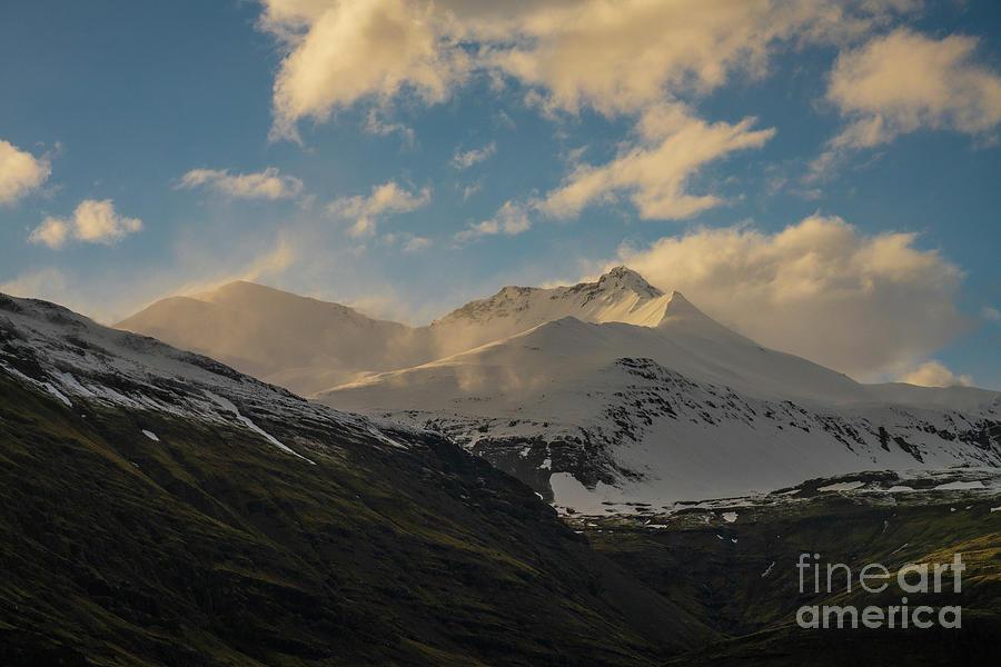 Iceland Snow Dusted Peaks by Mike Reid