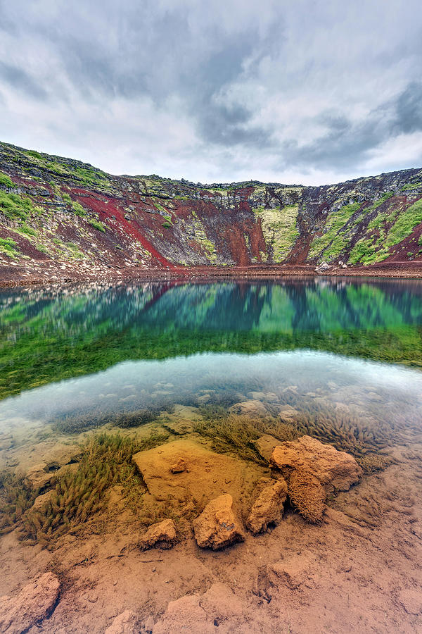 Iceland Volcano Crater lake by Pierre Leclerc Photography