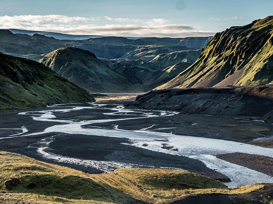 Icelandic landscape. by Usha Peddamatham