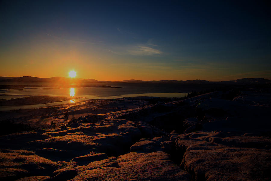 Icelandic sun rise by Kevin Banker