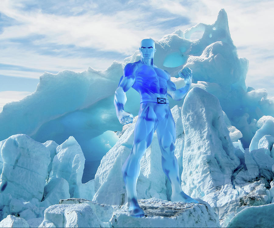 Ice Photograph - Iceman - Glacier by Blindzider Photography